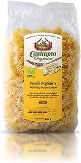 Castaño Orgánico, Pasta De Trigo Duro Fusilli, 500 Gr