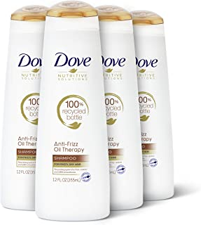 Dove Nutritive Solutions Dry Hair Shampoo for Frizz Control Oil Therapy with Nutri-Oils Moisturizing Shampoo Formula Smooths Hair 12 oz, 4 Count