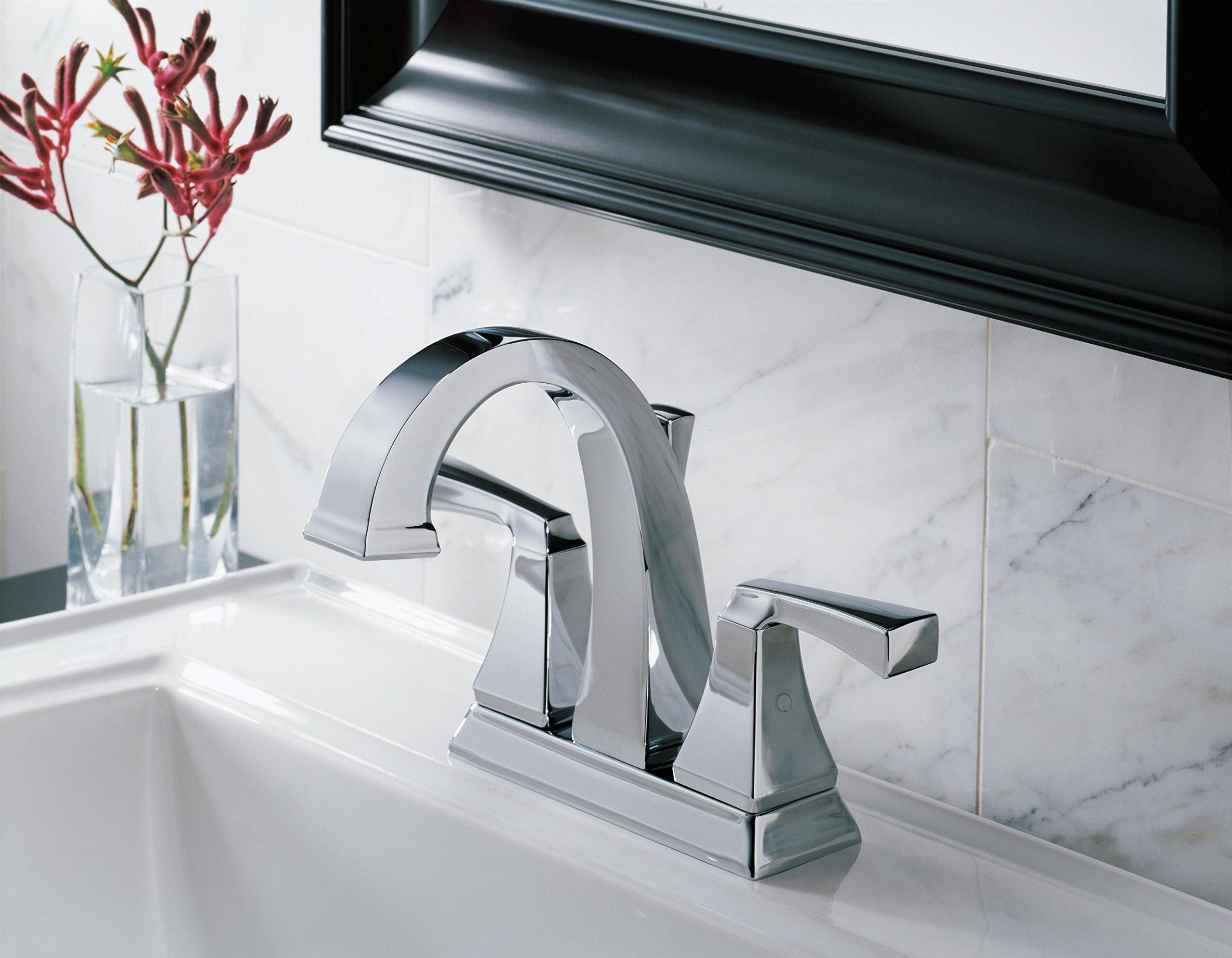 Delta Faucet Dryden Centerset Bathroom Faucet Chrome Bathroom Sink Faucet Diamond Seal Technology Metal Drain Assembly Chrome 2551 Mpu Dst Touch On Bathroom Sink Faucets