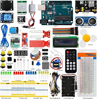 Seesii UNO R3 Super Starter Kit for Arduino with 140 Pieces Basic Practical Components Free PDF Detailed Tutorial 29 Lessons