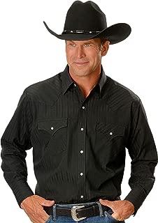 Men's Dobby Solid Western Dress Shirt - 15201934-89