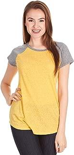 X America Womens Tshirts Comfortable Short Sleeve Baseball Tshirts Women Junior & Plus Size
