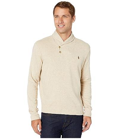 Polo Ralph Lauren Lux Jersey Shawl Collar Sweater (Expedition Dune Heather) Men