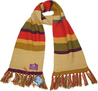 Fourth Doctor (Tom Baker) Shorter Scarf - Official BBC Licensed Doctor Who Scarf by LOVARZI