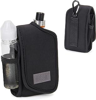 USA Gear Vape Case & Vaporizer Pen Carrying Holster for Box Mods & Tanks - Built-in Smoke Juice & Accessories Holder with Belt Loop & Carabiner Clip - Elastic Neoprene fits Most Vape Mods