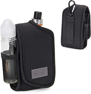 USA Gear Vape Carrying Case and Vaporizer Pen Holster for Box Mods and Tanks - Built-in Smoke Juice and Accessories Holder with Belt Loop and Carabiner Clip - Elastic Neoprene fits Most Vape Mods