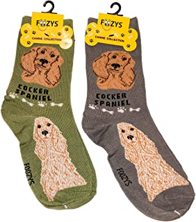 Foozys Unisex Crew Socks | Canine Small Dog Breed Novelty Socks (2 Pair)