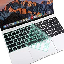 MOSISO Premium Soft TPU Ultra Thin Transparent Keyboard Cover Protector Compatible with MacBook Pro 13 inch 2017 2016 Release A1708 No Touch Bar & MacBook 12 inch A1534 Protective Skin, Mint Green