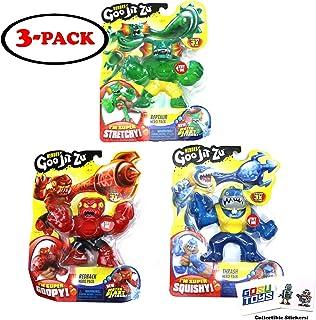 Heroes of Goo JIT Zu (3 Pack) Thrash, Redback, Reptaur, Series 2 Water Blast Attack with 2 GosuToys Stickers