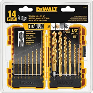 Best dewalt dw1354 14 piece titanium drill bit set Reviews
