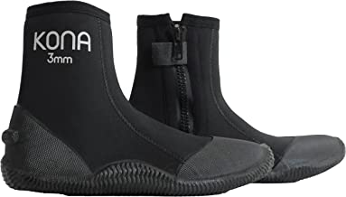 Kona 3mm Premium Double-Lined Neoprene Scuba Diving and Snorkeling Dive Boots/Booties..