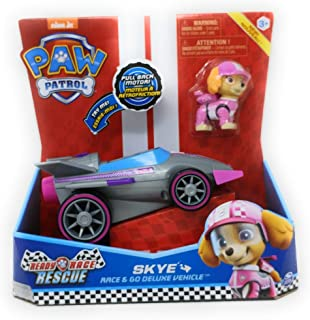 Spin Master New Paw Patrol Ready Race Rescue - Race & Go Deluxe Skye Vehicle & Figure