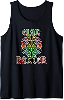 Baxter Scottish Clan Family Name Tartan Knot  Tank Top