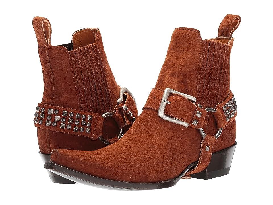 Old Gringo Harley Stud Strap (Cognac Suede) Cowboy Boots