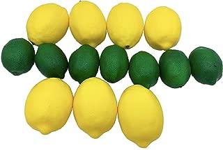 Dasksha Lifelike Artificial Lemons and Limes - 14PCS - Large Lemons and Small Limes - 7 Fake Limes and 7 Fake Lemons - Realistic Fake Fruits for Decoration