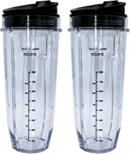 Blendin 2 Pack 32 Ounce Cup with Sip N Seal Lids, Compatible with Nutri Ninja Auto-iQ 1000W and Duo Blenders