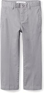 Boys Straight Leg Flat Front Uniform Chino Pant