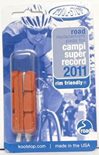 Kool Stop Campagnolo Super Record Road Replacement Pads, Caliper Pads, Threaded Posts, Salmon, Pair