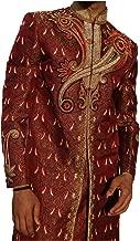 Rajashree Fashions Indian Mens Sherwani Brocade Fabric Color