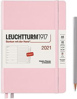 ロイヒトトゥルム 手帳 2021年 1月始まり A5 ウィークリー パウダー 361846