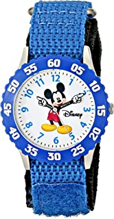 Disney Boys' Mickey Mouse Blue Time Teacher Watch
