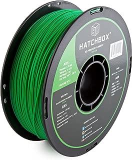 HATCHBOX ABS 3D Printer Filament, Dimensional Accuracy +/- 0.05 mm, 1 kg Spool, 1.75 mm, Green