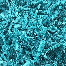 teal crinkle paper