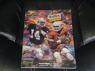 1997 FIESTA BOWL PROGRAM TEXAS VS PENN STATE EX-MINT