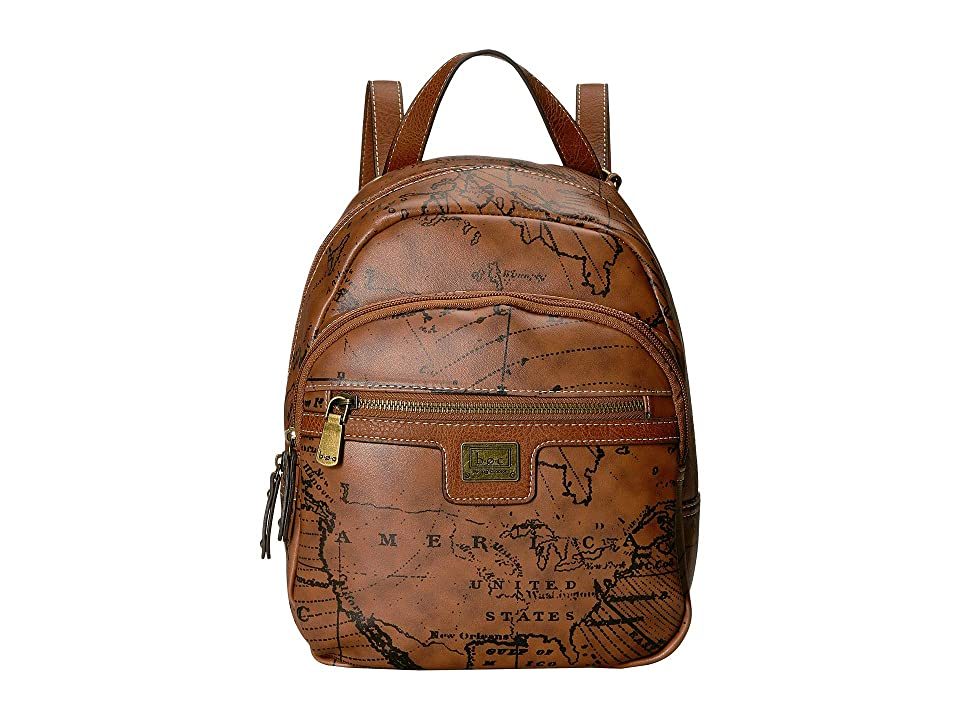 b.o.c. Voyage Backpack (Dark Saddle/Chocolate) Backpack Bags, Brown