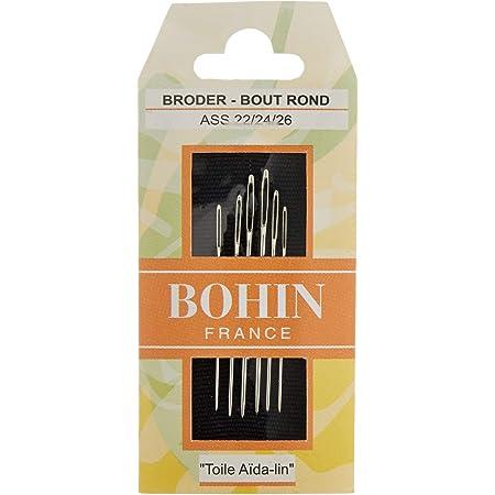 Bohin Fabrics Tapestry Needles No. 22-24-26, Metal, Silver, 0.1 x 0.1 x 4.5 cm