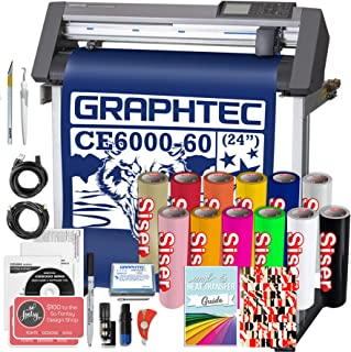 Graphtec Plus CE6000-60 24 Inch Professional Vinyl Cutter with Bonus Software, Easyweed HTV, and 2 Year Warranty