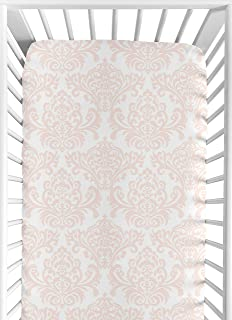 Sweet Jojo Designs Fitted Crib Sheet for Amelia Baby/Toddler Bedding - Damask Print