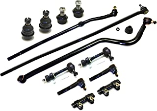 PartsW 13 Pc Steering & Suspension Kit for Dodge Ram 1500/2500 1998-1999 4WD Models Track Bar Inner & Outer Tie Rod Ends Adjusting Sleeves Upper & Lower Ball Joints Sway Bar End Links