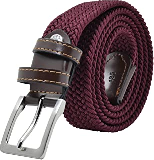 f179b4e80b3dbe GreSel Cintura Intrecciata, Uomo Donna, in Tessuto Elastico Con Inserti in  Vera Pelle,