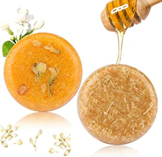 2 Stücke Haar Shampoo Bar, Phogary Haar Seife Jasmin  Honey verschiedene Duft-Pflanzenessenz-Shampoo für trockenes u. Geschädigtes Haar, 3.88 oz