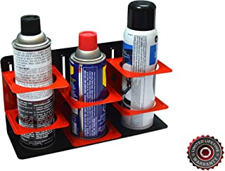 Olsa Tools Magnetic Can Holder | Aerosol and Spray Can Holder | Adjustable Height for Different Cans | Holds 3 Spray Cans ...