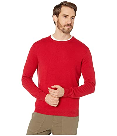 J.Crew Everyday Cashmere Crewneck Sweater in Solid (Moroccan Red) Men