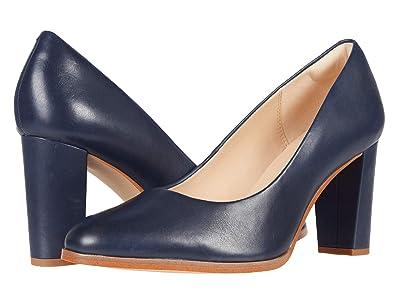 Clarks Kaylin Cara 2 (Navy Leather) Women