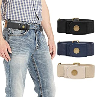 No Buckle Stretch Belt for Men Women Elastic Adjustable Belts Buckle-Free Belt for Jeans Pants 2 pack 3 pack