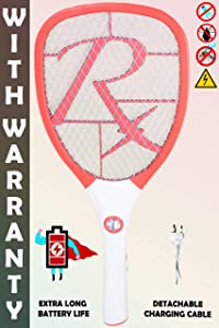Viola Rechargeable Mosquito Racket Bat with Bigger Li Battery USB Charging and LED Light
