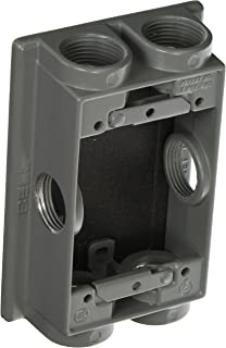 Hubbell-Bell 5415-0 Weatherproof Box Extension Adapter, 5-1/4-Inch X 3-1/2-Inch