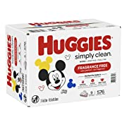 HUGGIES Simply Clean Baby Wipes, 9 Pack, 576 Sheets Total