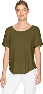 Danskin Women's Dolman Sleeve Criss-Cross Back Top