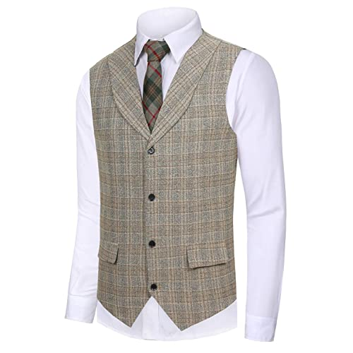 f225e6bd2d04 Hanayome Men's Gentleman Top Design Casual Waistcoat Business Suit Vest VS17