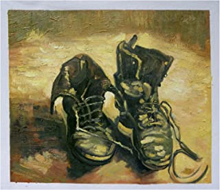 A Pair of Shoes - Vincent Van Gogh Hand-painted Oil Painting Reproduction (20 X 24 In.)