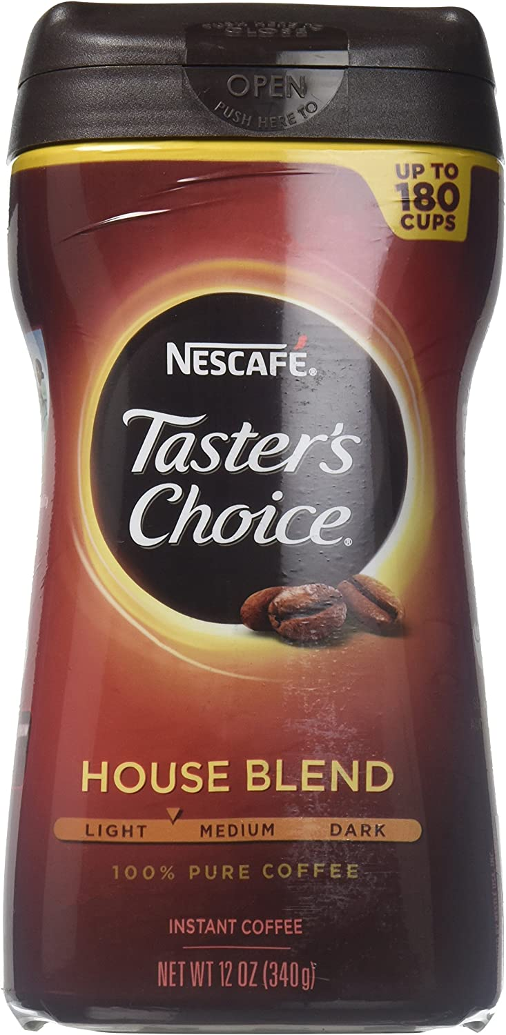 Taster's Choice Original House Blend Ca 12-Ounce Discount mail order New arrival Coffee Instant