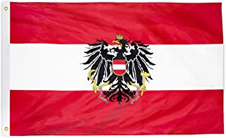 Sponsored Ad - DANF Austria Flag 3x5 Ft - 100D Thicker Polyester - Austrian Coat of arms National Flags Double Stitched Qu...