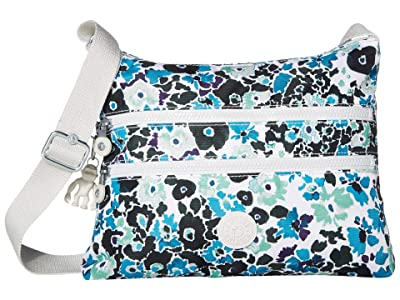 Kipling Alvar Crossbody Bag (Blue Field Floral) Cross Body Handbags
