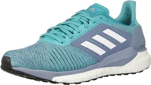 Adidas Wohommes Solar Glide ST Running chaussures, Hi-Res Aqua blanc Raw gris, 11.5 M US