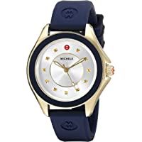 MICHELE Cape Gold-Tone Stainless Steel Women's Watch with Navy Blue Band